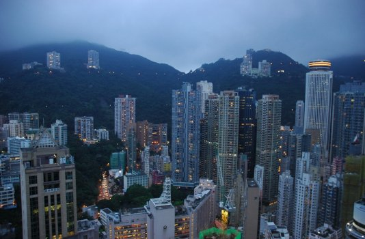 evening in Hong Kong image