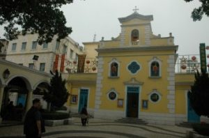 vintage architecture in Macau image